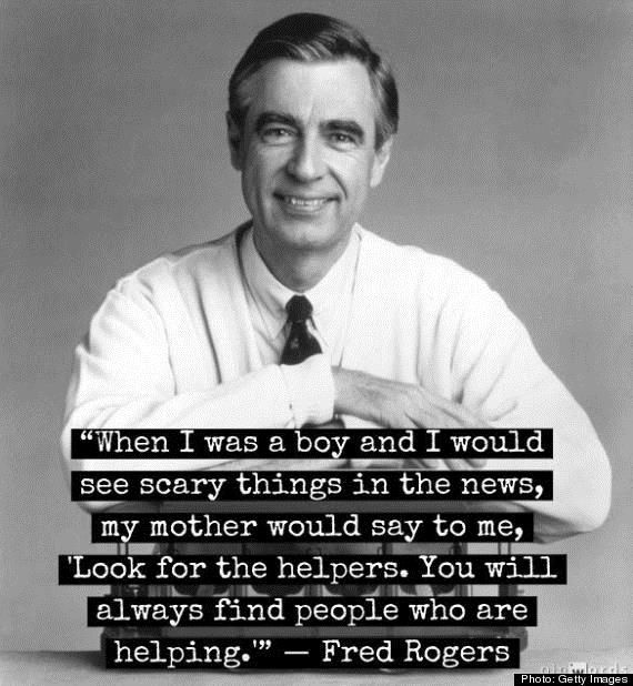 Photo & quote from late TV icon, Mr. Rogers