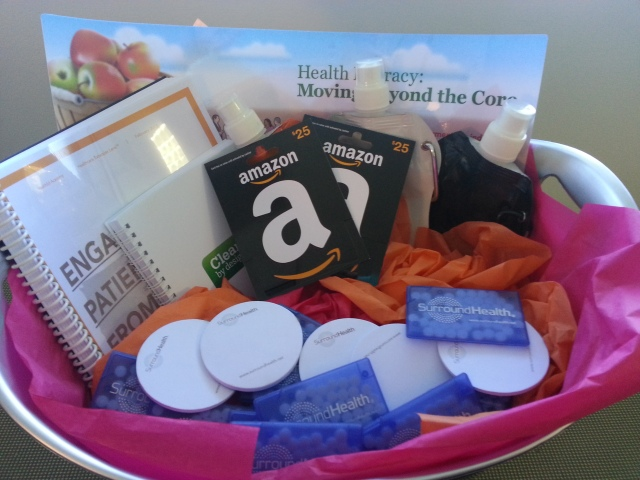 Photo of SurroundHealth 5,000th Member Welcome Basket