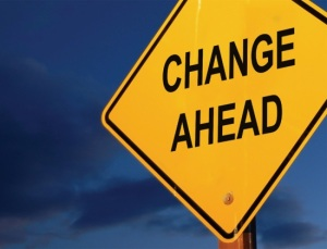 Photo of Change Ahead sign