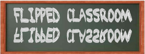 Photo of flipped classroom chalkboard
