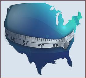 """Photo depicting large """"waistline"""" of the United States"""
