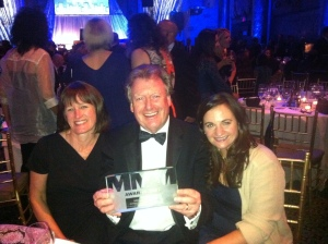 We were all smiles as we accepted our MM&M Gold Award!