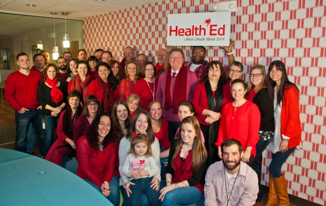 In support of National Go Red Day, HealthEd/SurroundHealth employees wore their best reds!